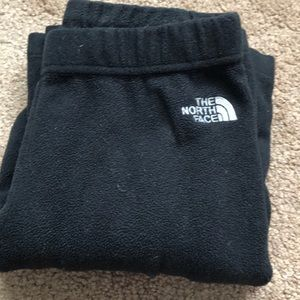 The north face black sweatpants